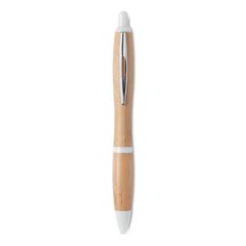 Bamboe balpen, wit