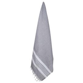 Gerecycled Hamam Handdoek, Anthracite