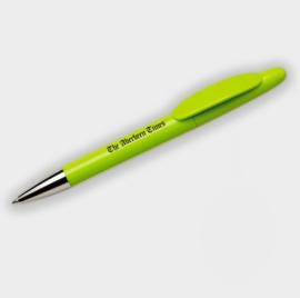 Gerecyclede pen gemaakt van gerecycled plastic, lichtgroen
