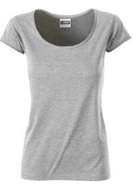 James & Nicholson damesshirt, grijs