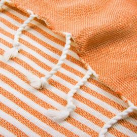 XL Oekotex-Katoen Handdoek, Oranje