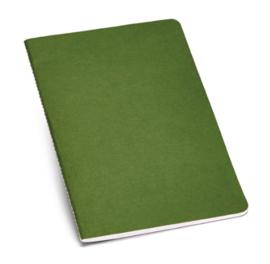 Notitieboekje van gerecycleerd karton gelinieerd groen A5