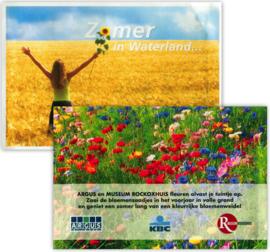 Zaadzakjes in de vorm van een briefkaart met je eigen logo 101 x 150 mm