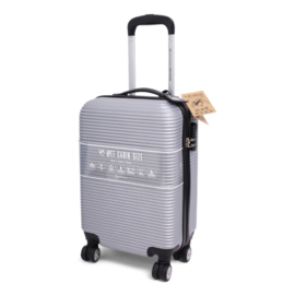 Cabin size rPET square trolley, zilver