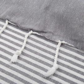 XL Oekotex-Katoen Handdoek, Dark Grey