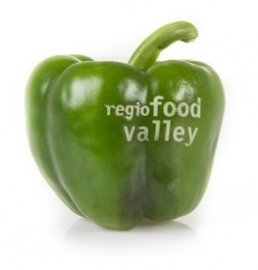 Bedrukte paprika met logo