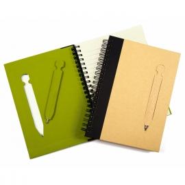 Eco notitieboek Bart, kleur groen