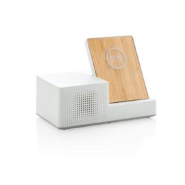 Ontario 3W draadloze oplader met speaker, wit