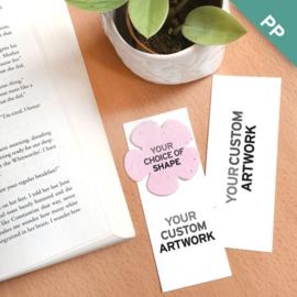 Small Eco Bookmark, met een geprint vormpje