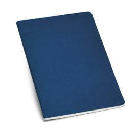 Notitieboekje van gerecycleerd karton gelinieerd blauw A5