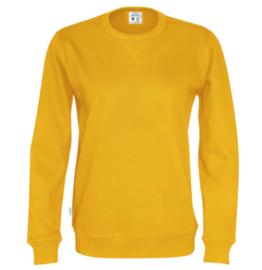 Organic Katoen Crew neck sweater Cottover unisex kleur geel