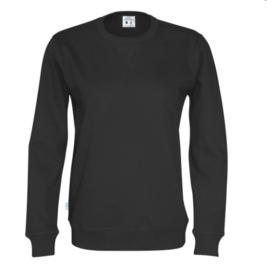 Organic Katoen Crew neck sweater Cottover unisex kleur zwart