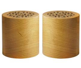 houten Bluetooth speaker set van 2