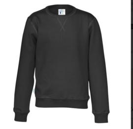 Organic Katoen Crew neck sweater Cottover kid kleur zwart