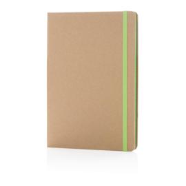 Eco-vriendelijk A5 kraft notitieboek, groen