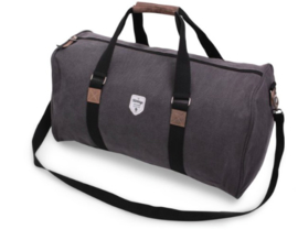 Canvas weekend bag, grey