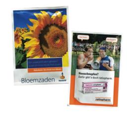Zaadzakjes bedrukken met je eigen logo - zomerbloemen 95 x 65 mm