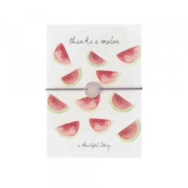 Ansichtkaart Met Sieraad, Watermeloen