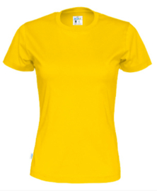 Cottover T-shirt, geel