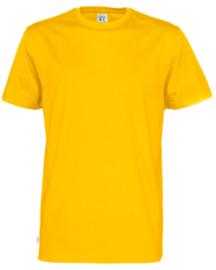 t-shirt Men Cottover kleur geel