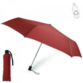 Paraplu gemaakt van 100% gerecycled PET met rubberen handvat