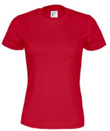 T-shirt Gemaakt Van Organische Katoen, Rood