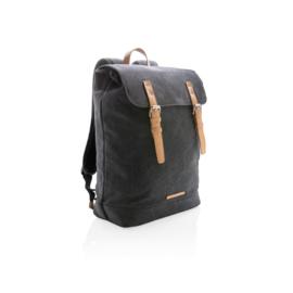Canvas laptop rugzak PVC vrij, zwart