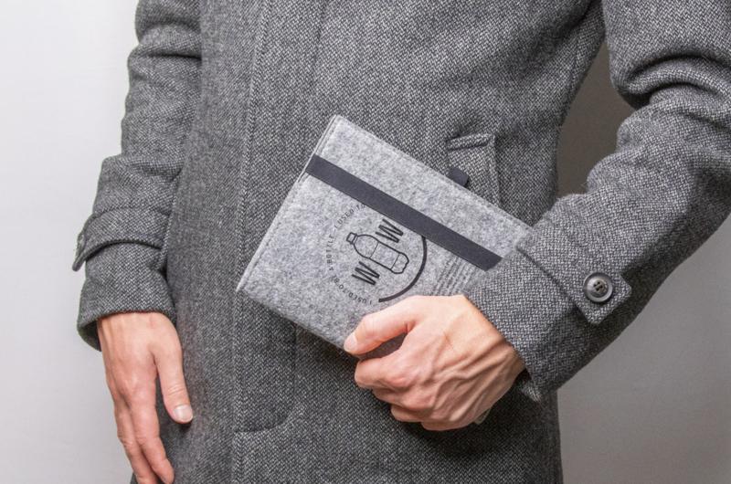 RPET vilten notitieboekje | NOTITIEBOEKJES | Eco Giving