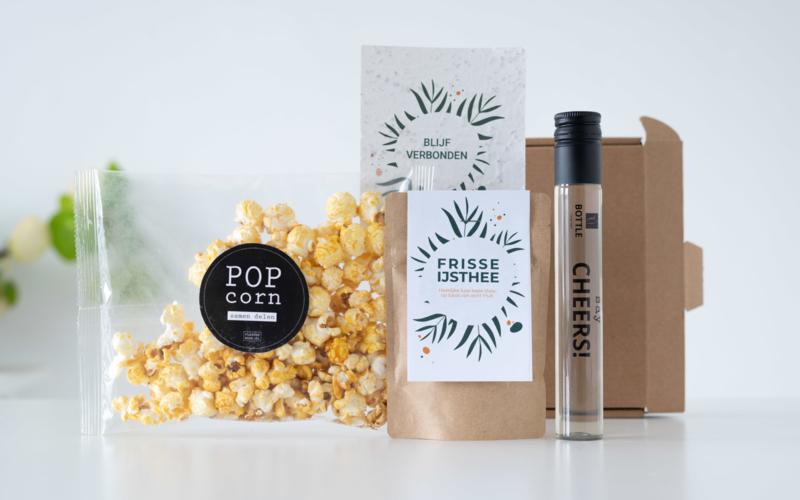 Popcorn, wijn en ijsthee!