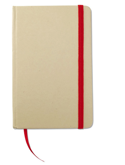 A6 Gerecycled memoblokje, rood