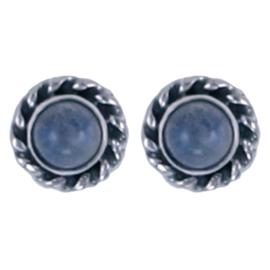 Zilver oorsteker Maansteen : Ø 7mm