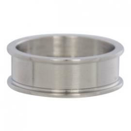 basisring zilver mat  8 mm