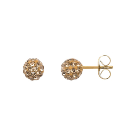Ear studs ball Colorado Topaz