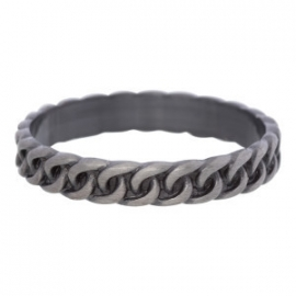 curb chain antiek zilver 4 mm