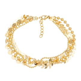Arrow chain armband goud