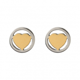 iXXXi JEWELRY oorsteker met hart in gold Diameter 7mm