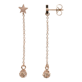 Ear studs wrecking ball Champagne