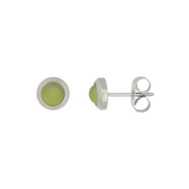 Ear studs matt olive