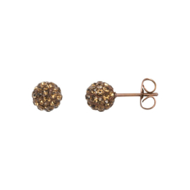 Ear studs ball Topaz