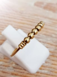 Anxiety ring R517 PALM GOLD STEEL CHARMIN'S