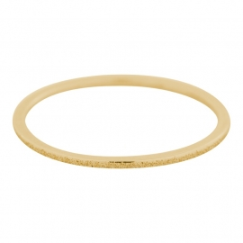 Sandblasted ring 1 mm Goud