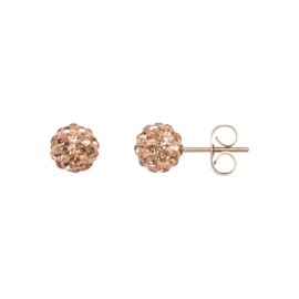 Ear studs ball Champagne