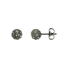 Ear studs ball Black