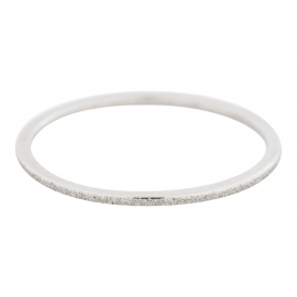 Sandblasted ring 1 mm Zilver