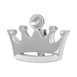 Crown Brooch top part zilver