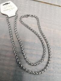 Fantasie Collier, 5 mm breed, 44 cm