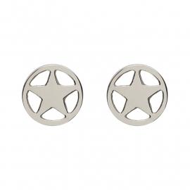 iXXXi JEWELRY oorsteker met ster in zilver Diameter 7mm
