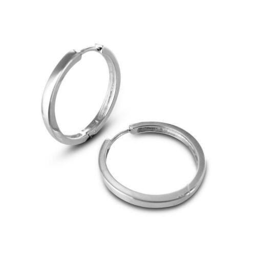 echt zilveren creolen, 26 mm.