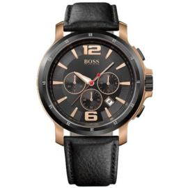 Hugo BOSS 1512599 - Herenhorloge Zwart/Rose Goud