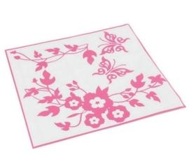 Vlinder Toilet Stickers - Roze